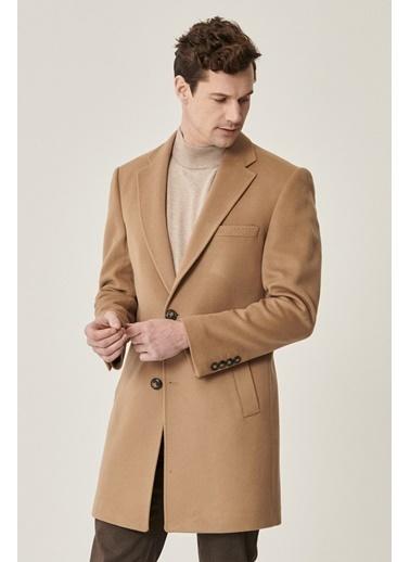 Beymen Business Standart Fit Düz Palto 4B0521100010 Camel